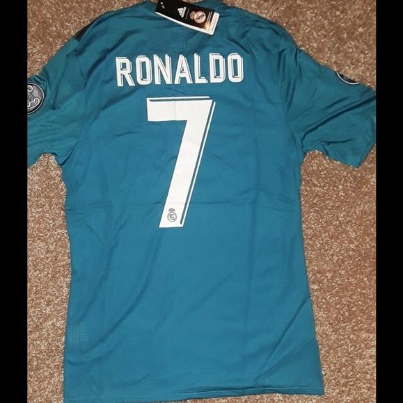 7543c598aa8 Real Madrid third away 17 18 UCL Jersey RONALDO 7